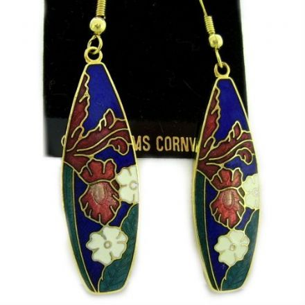 Cloisonne Hook Earrings SE13